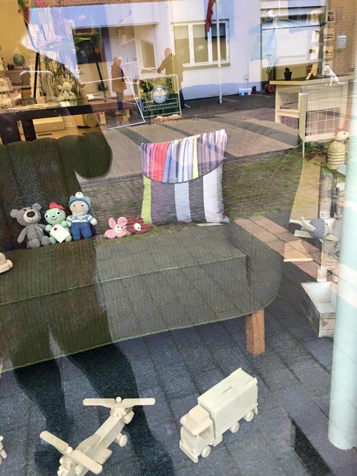 butiksdekoration i kunstbutik i Bording