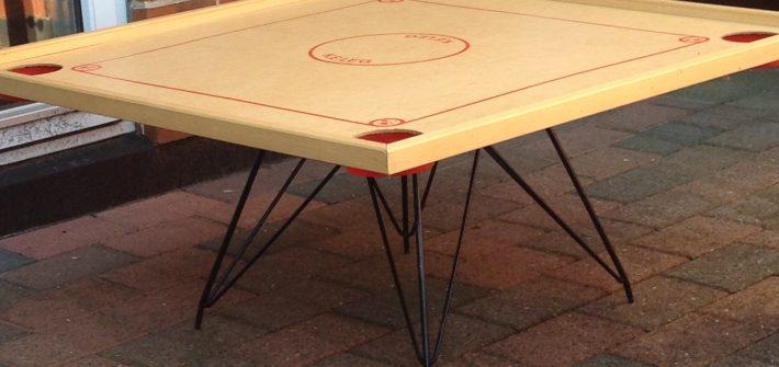 Redesignet sofabord, lavet af et gammelt bob-spil. CeeDesign