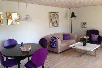 Indretning af hus i Arnborg ved herning og brande - stue